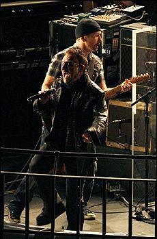 U2 a sorpresa sul tetto della Bbc