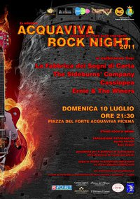 locandina acquaviva rock night 2011