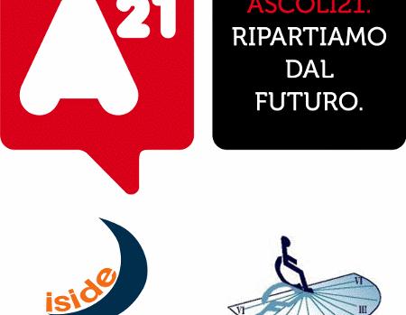 Logo Ascoli21 con Cooperativa Iside e La Meridiana
