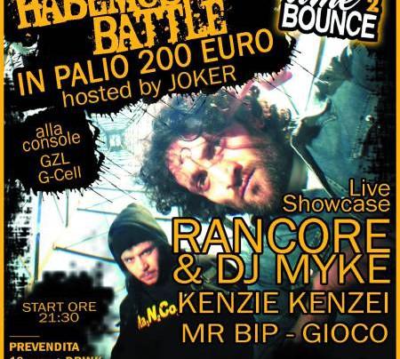 BlackLab in collaborazione con Kontiki Garden presentano: Time 2 Bounce - Habemus Rap Battle