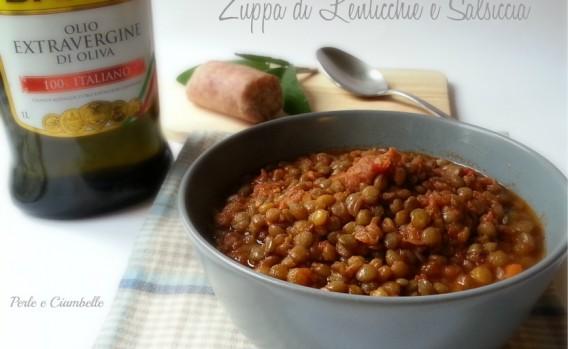 zuppa lenticchia e salsiccia