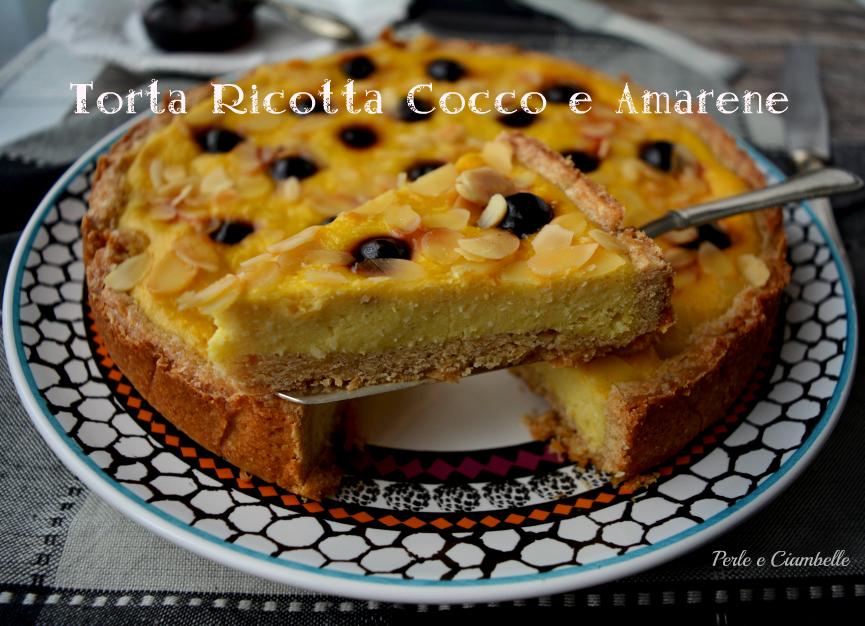 TortaRicottaCoccoAmarene