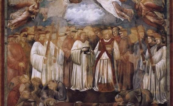 Morte di San Francesco. Basilica Superiore di Assisi 1300 circa