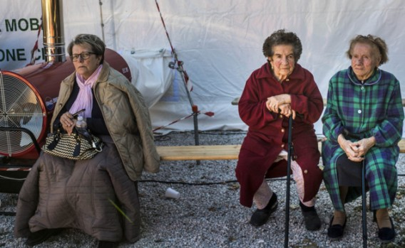 anziani terremot