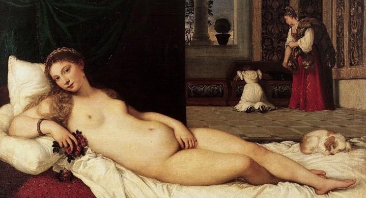 La Venere di Urbino  olio su tela (119 cm x 165 cm) 1538  Galleria degli Uffizi, Firenze