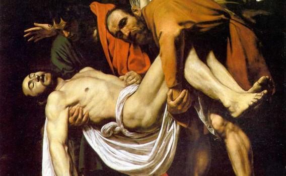 Caravaggio, La Deposizione, 1602-1604 ca. Olio su tela, 300 × 203 cm. Città del Vaticano, Pinacoteca vaticana.