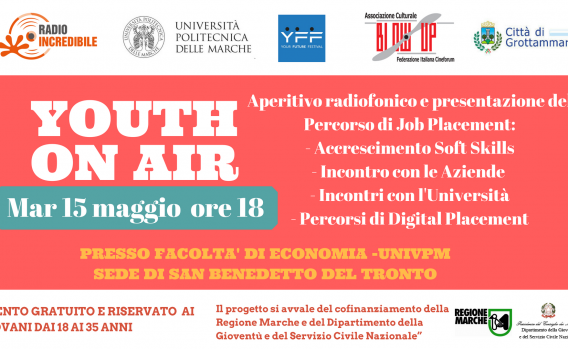 Aperitivo radiofonico e presentazione del Percorso di Job Placement_- Accrescimento Soft Skills- Incontro con le Aziende - Incontri con l'Università- Percorsi di Digital Placement