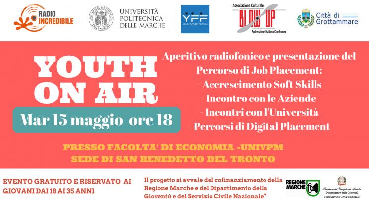 Aperitivo radiofonico e presentazione del Percorso di Job Placement_- Accrescimento Soft Skills- Incontro con le Aziende - Incontri con l'Università- Percorsi di Digital Placement