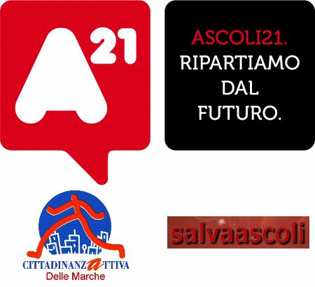 Logo Ascoli 21 con Cittadinanza Attiva e Provincia Nova