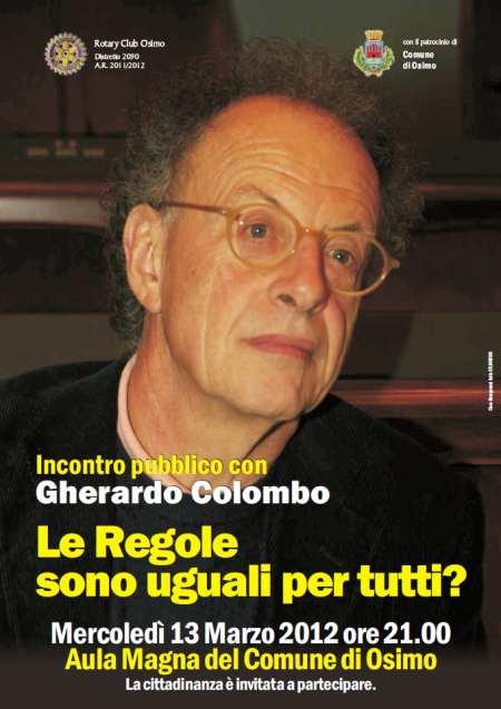 Incontro pubblico con Gherardo Colombo - Le Regole sono uguali per tutti?